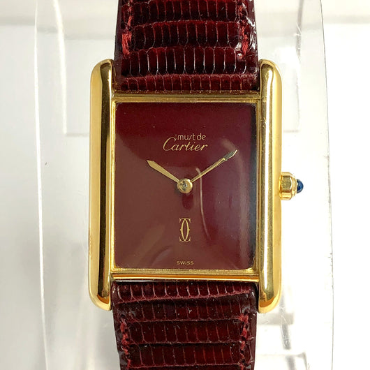 CARTIER TANK Quartz 18K Gold Electroplated Ladies Watch New CARTIER Band