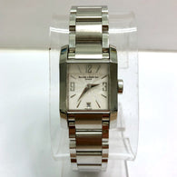 BAUME & MERCIER Date Swiss Quartz Stainless Steel Ladies Watch White Dial