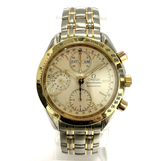 OMEGA SPEEDMASTER Chronograph Tachymeter Automatic 18K Gold & Steel Men's Watch