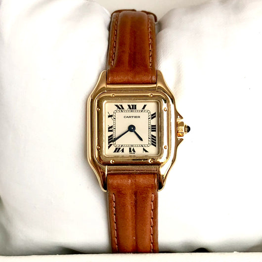 CARTIER PANTHERE Quartz 18K Yellow Gold Ladies Watch New Band