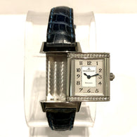 JAEGER-LECOULTRE REVERSO Steel Ladies Watch Factory Diamonds