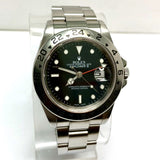 ROLEX OYSTER PERPETUAL DATE EXPLORER II Stainless Steel Men's Watch Black Dial