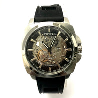 CROTON Automatic Tachymeter Steel Mens Watch Skeleton Case