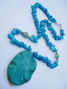 Beautiful real stone necklace