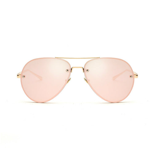 Artistry Crafted Inside Metal Rim Aviator Sunglasses