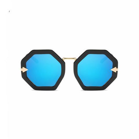 Thick Bold Octagon Arrow Sunglasses