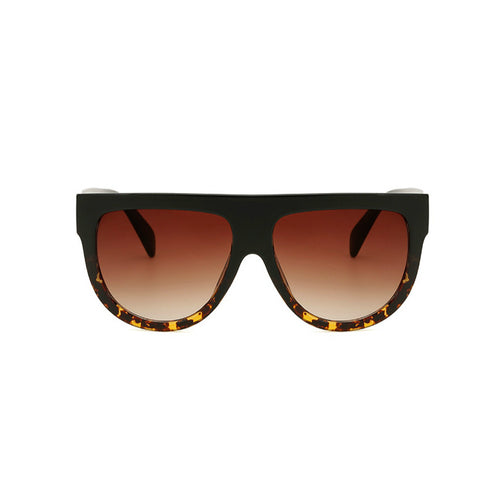 Hot Oversized Flat Top Teardrop Sunglasses