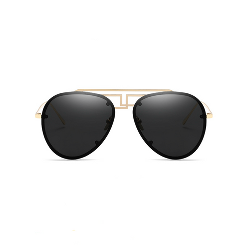 63mm Oversize Aviator Stylish Bridge Sunglasses