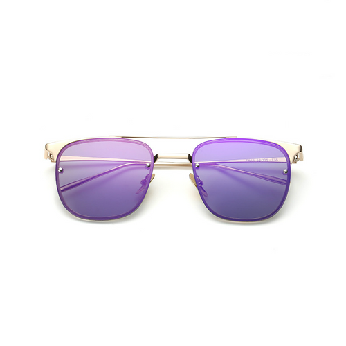 Artistry Crafted Square Inside Metal Rim Sunglasses