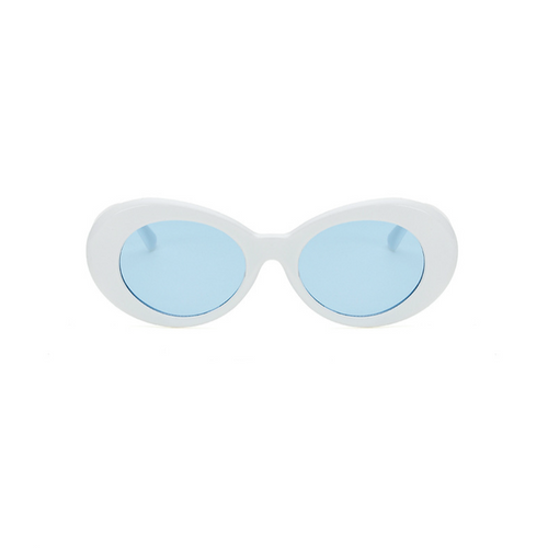 90's Fashion Retro Oval Fun Color Sunglasses