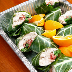 Chicken Club Collard Wraps - 6 servings