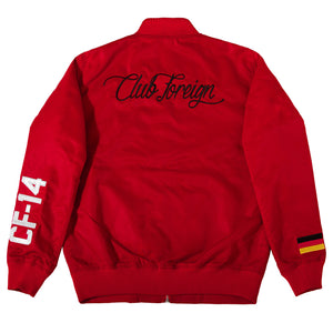 Club Foreign Performance Racing Bomber Jacket Red - Trends Society