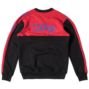 ClubForeign Performance Men's Crewneck Sweatshirt Red Black - Trends Society