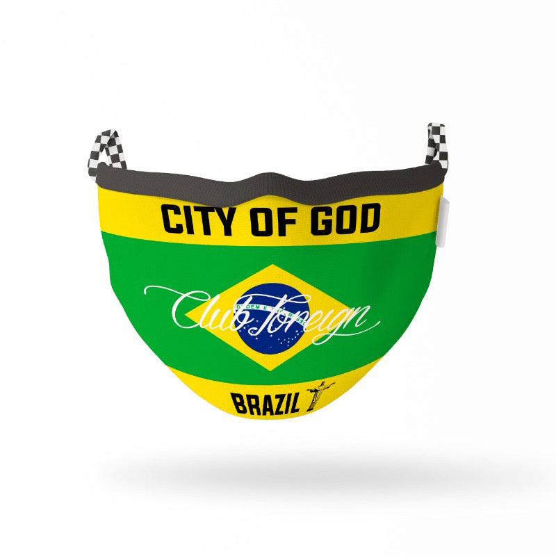 "ClubForeign Premium Reusable Fabric Face Masks ""Brazil"""