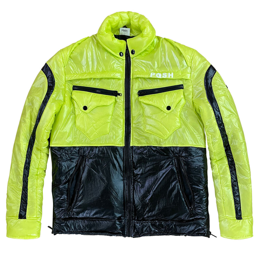 "Posh ""NewYork"" Two Tone Baby Bubble Jacket"