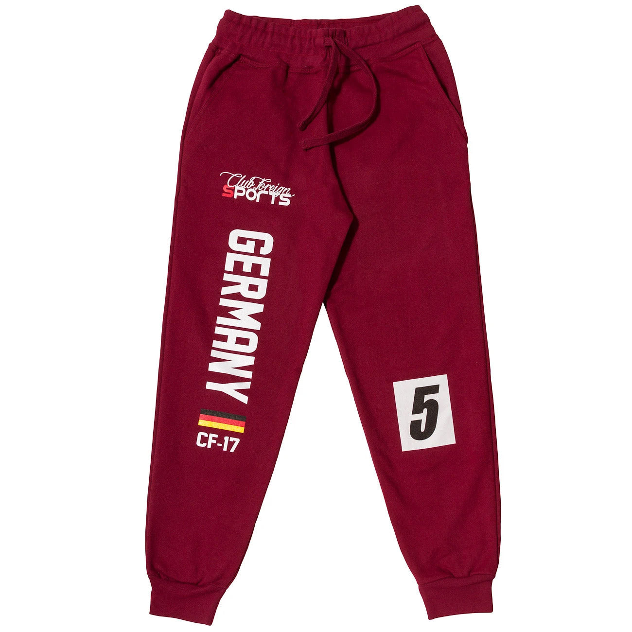 ClubForeign Sports Germany Series Pants Burgundy - Trends Society