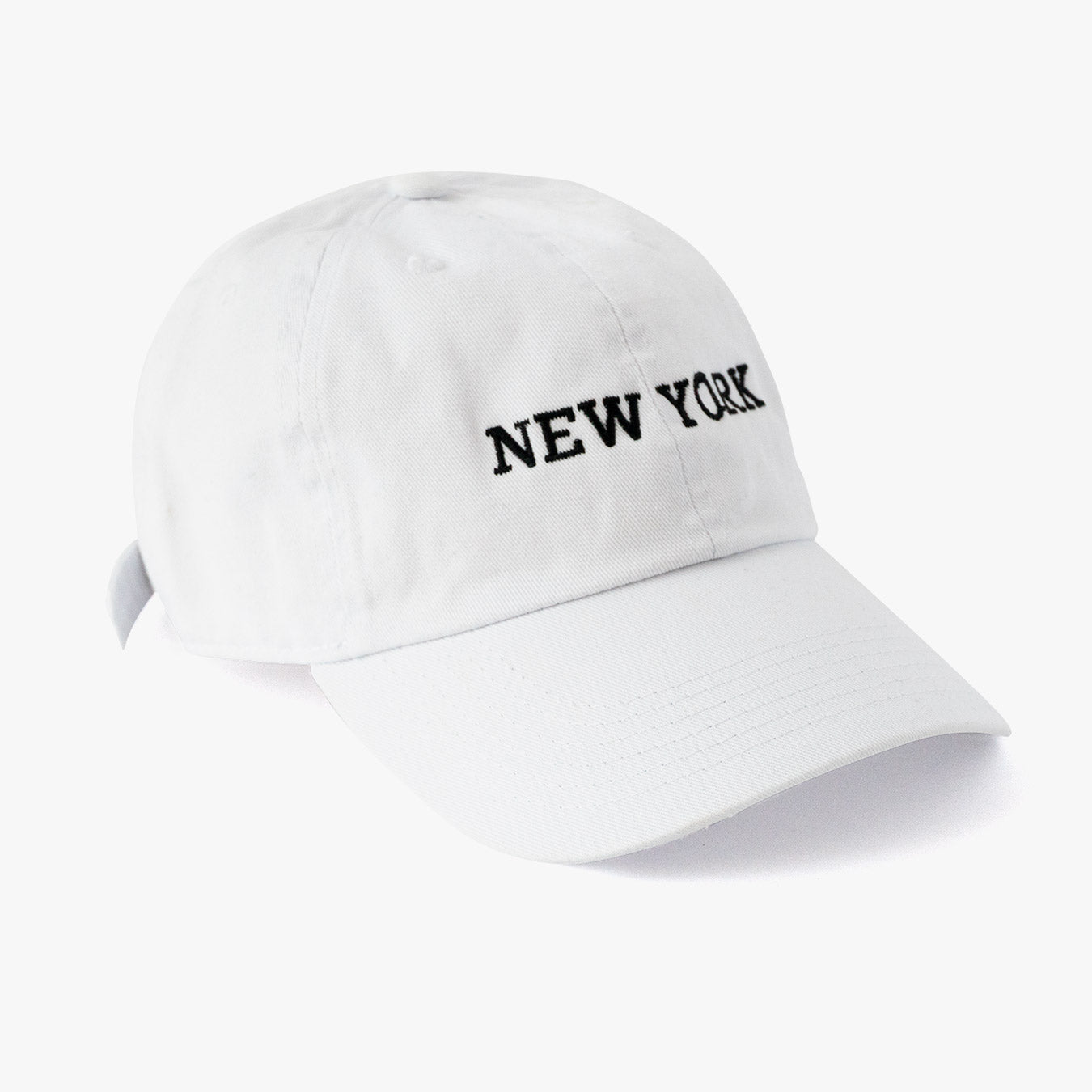 Posh Dad Hat New York White