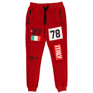 ClubForeign Sport Italy Series Pants Slim Fit Red - Trends Society