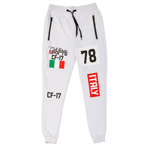 ClubForeign Sport Italy Series Pants Slim Fit White - Trends Society