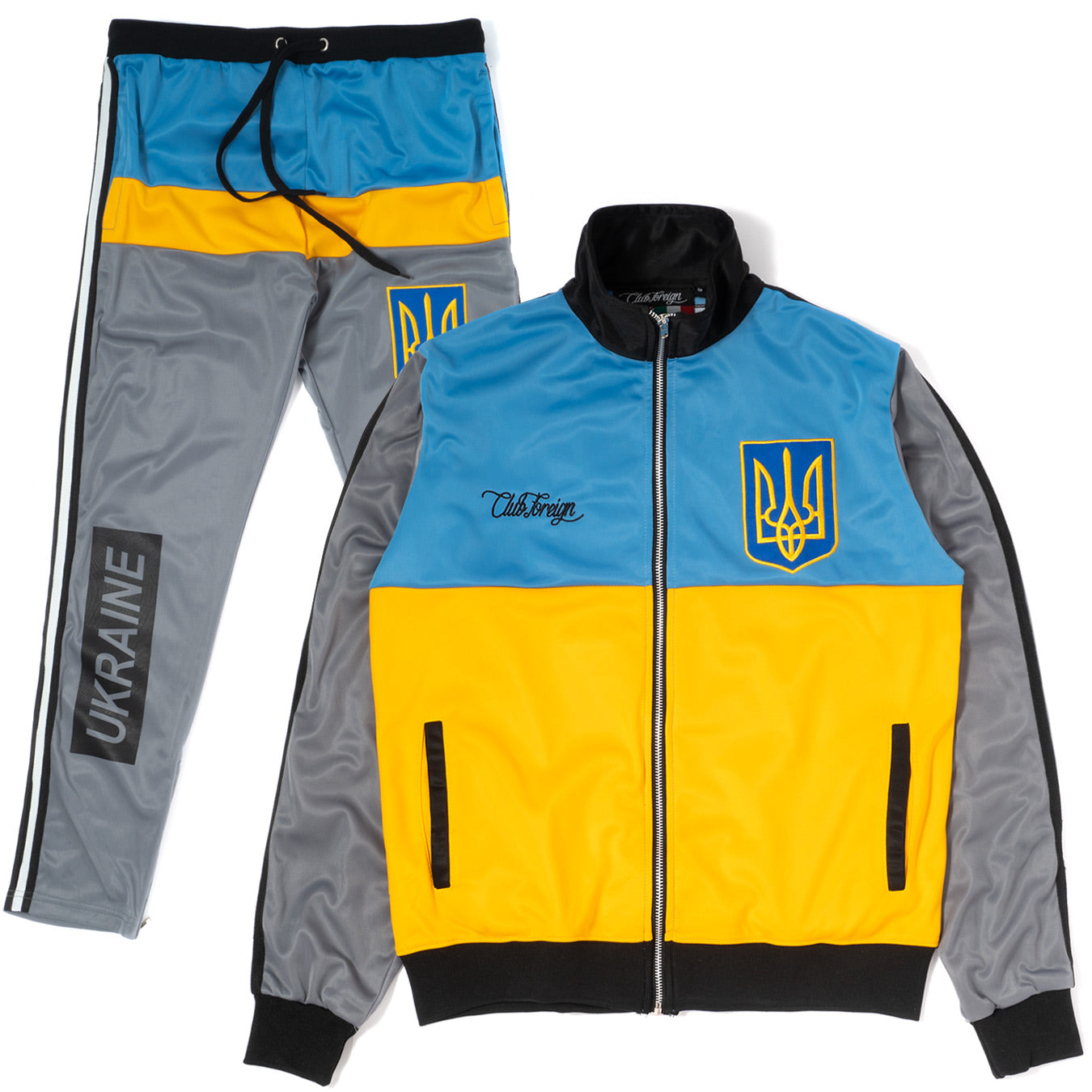 ClubForeign Tracksuit Ukraine Jacket and Jogger Pants TRB