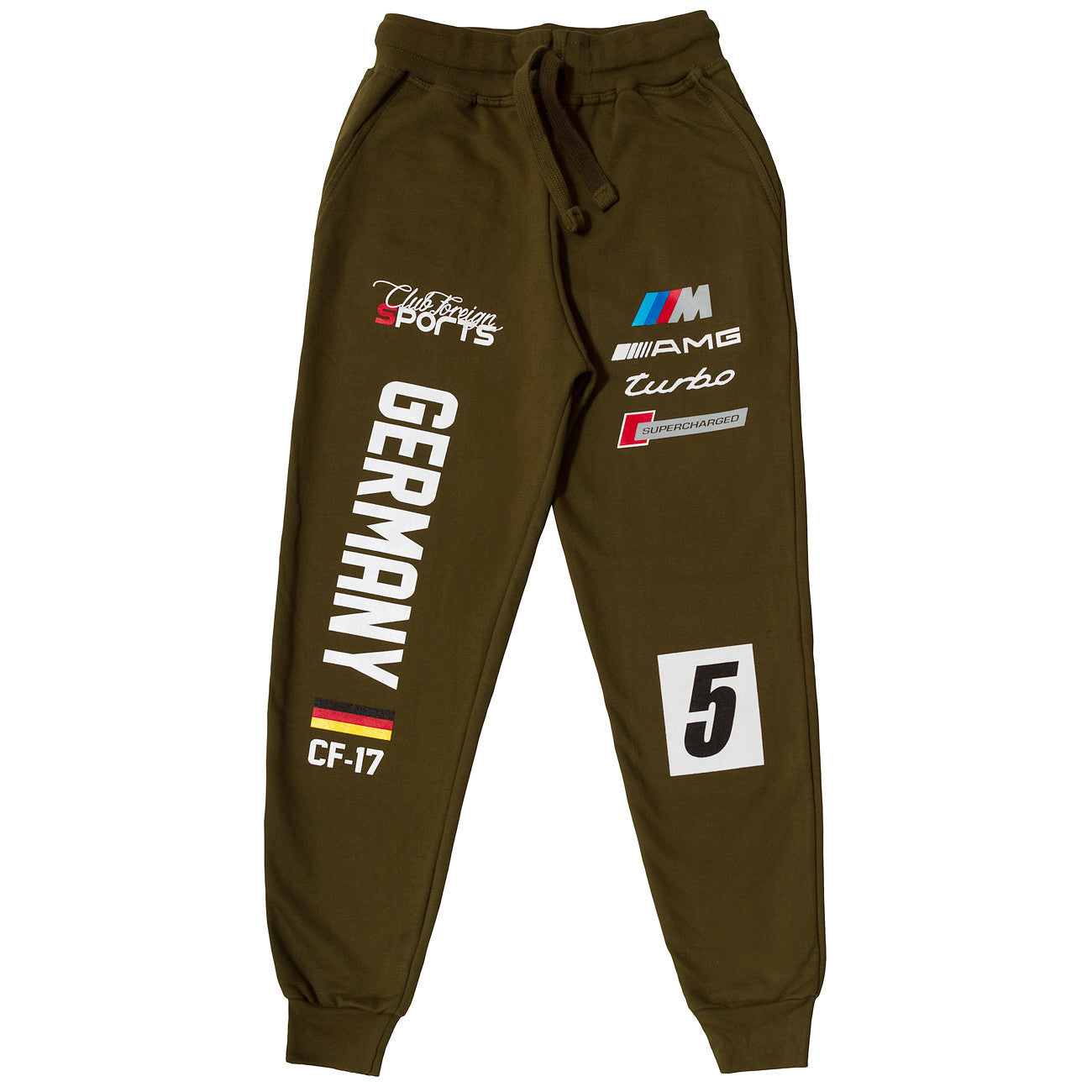 ClubForeign Sports Germany Series Pants Olive Green - Trends Society