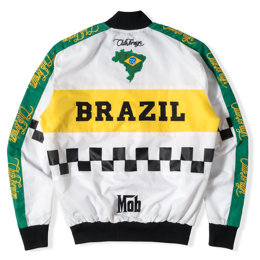 "Club Foreign Performance Brazil ""City Of God"" Bomber Jacket - Trends Society"