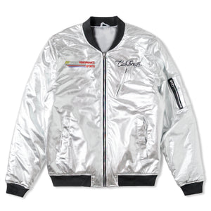 Club Foreign Bomber Jacket Party Edition Silver