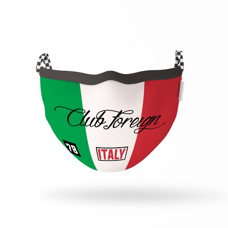"ClubForeign Premium Reusable Fabric Face Masks ""Italy"""