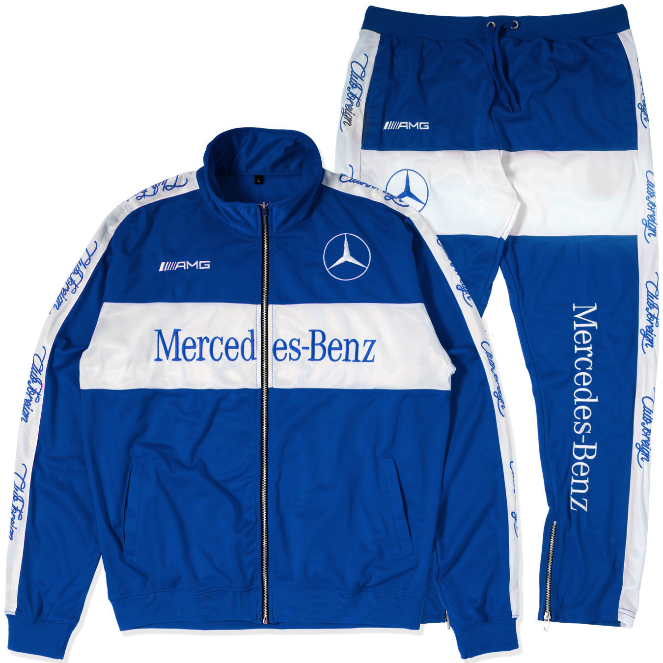 "ClubForeign Tracksuit For Men Jacket and Pants ""Merc"" BLue"