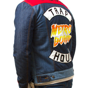 "Posh Denim Jacket ""Metro Boomin"" Sherpa Lined - Trends Society"