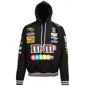 Posh MnM's Windbreaker Hoodie Jacket Black