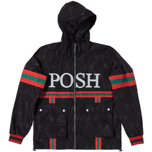 Posh PG Windbreaker Full Zip Jacket Black - Trends Society