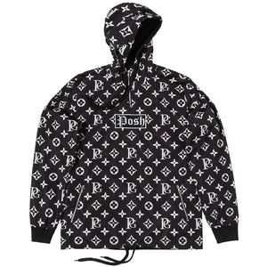 Posh LV_SPRM Windbreaker Hoodie Jacket Black - Trends Society