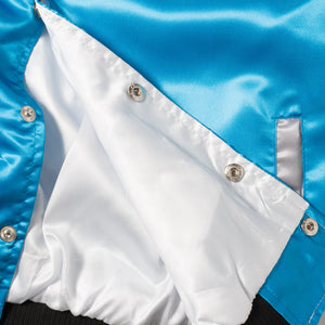 "Posh ""GatoRacing"" Two Tone Satin Racing Jacket Blue Cherry - Trends Society"