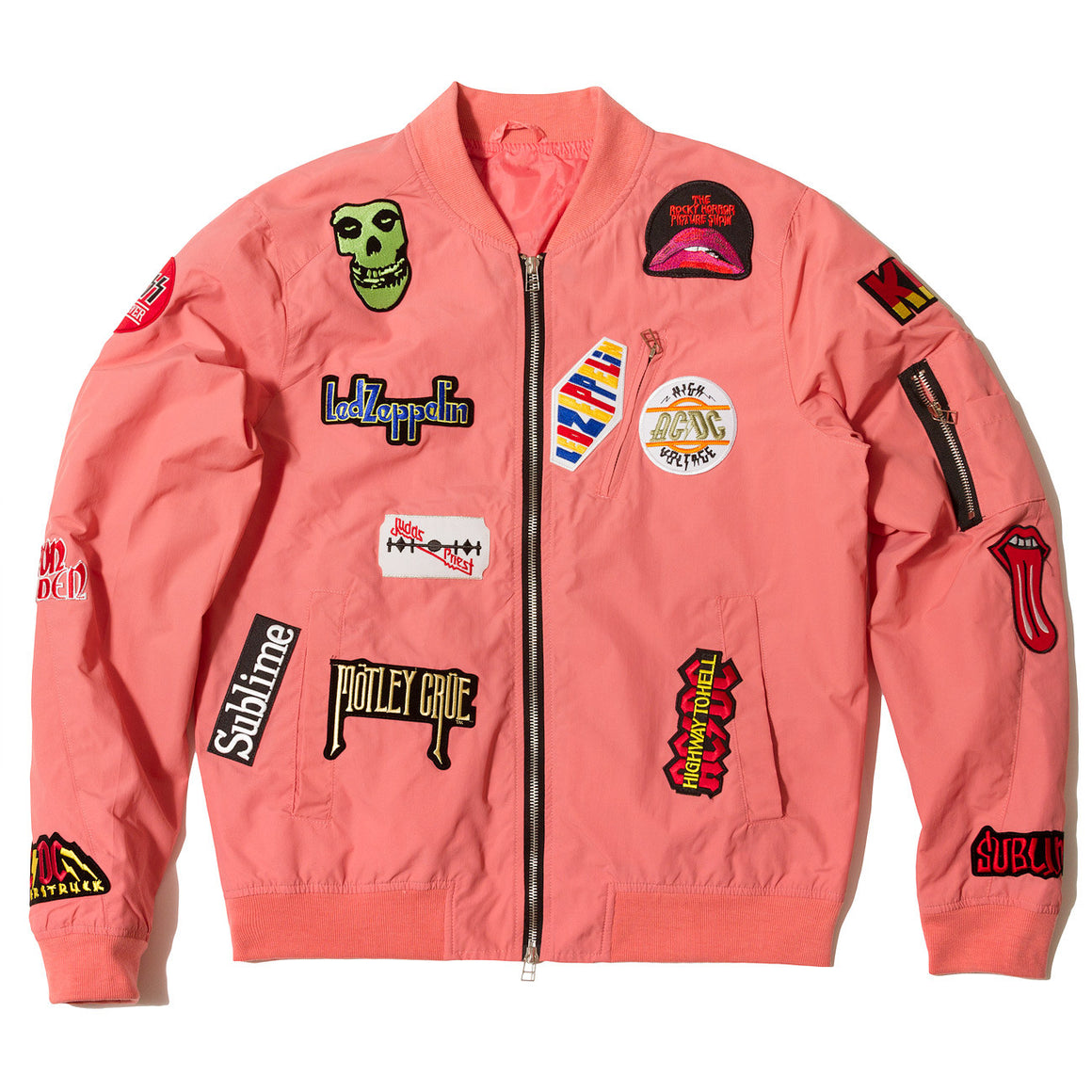 "Posh Light Bomber Jacket ""Rock Hard"" Pink - Trends Society"