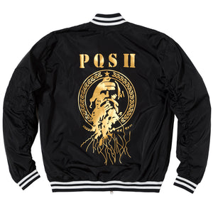 Posh Black Bomber Jacket - Trends Society
