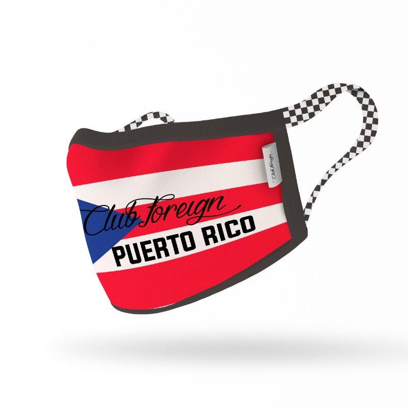 "ClubForeign Premium Reusable Fabric Face Masks ""Puerto Rico"""