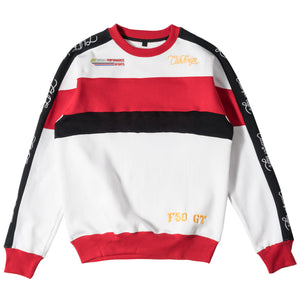 ClubForeign Performance Men's Crewneck Sweatshirt White Red Black - Trends Society