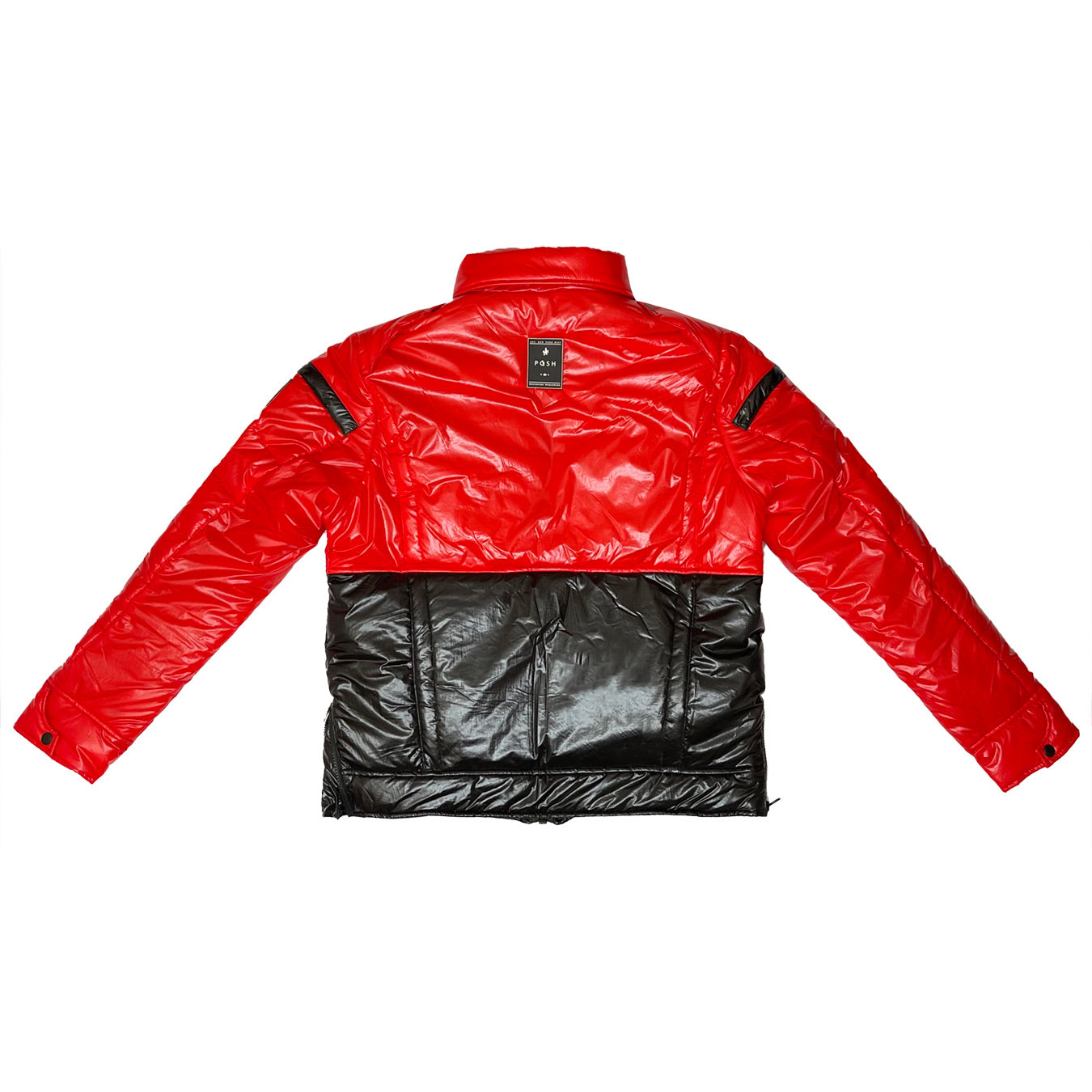"Posh ""NewYork"" Two Tone Baby Red Bubble Jacket"