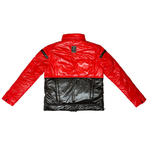 Posh Two Tone Baby Red Bubble Jacket