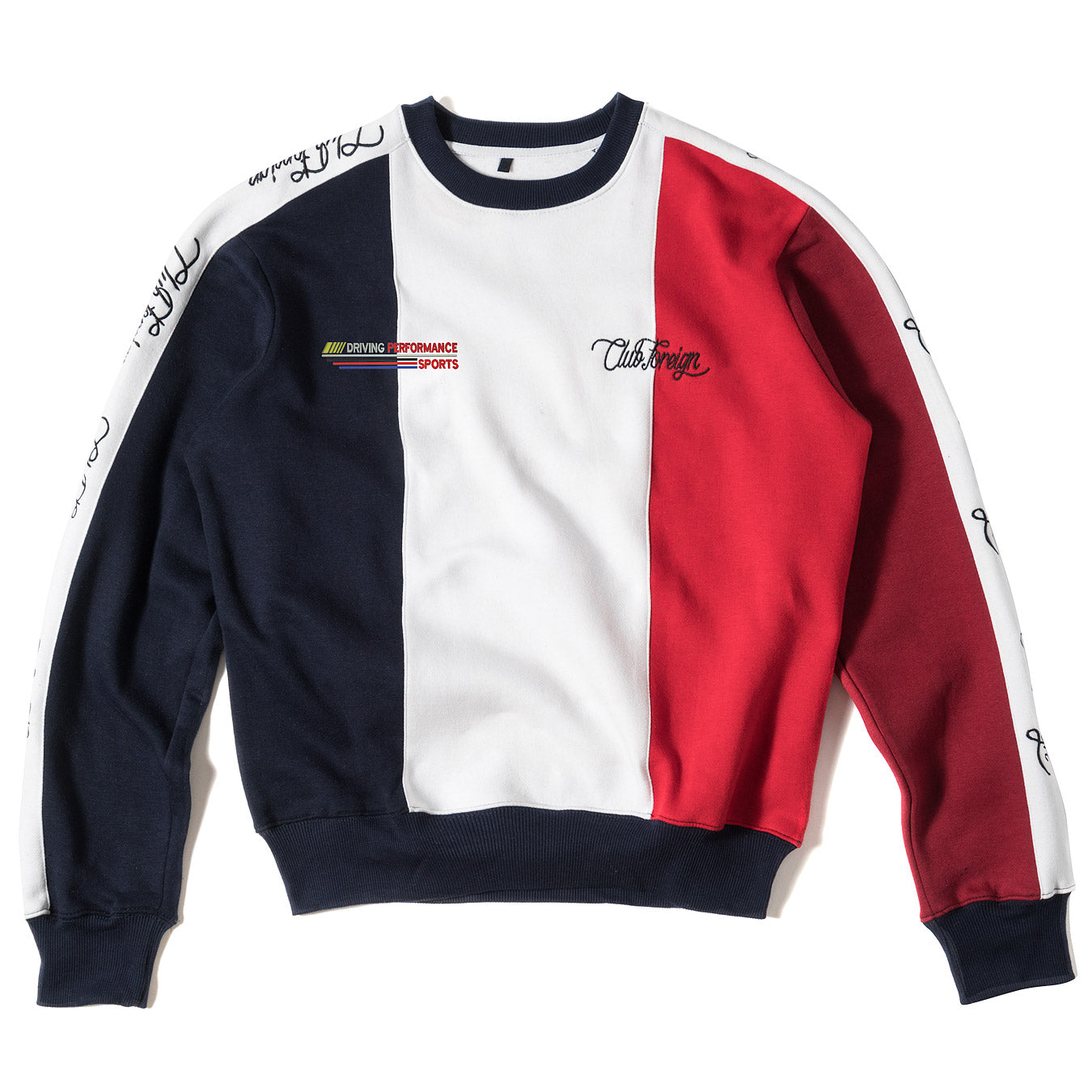 ClubForeign Performance Men's Crewneck Sweatshirt Blue White Red - Trends Society
