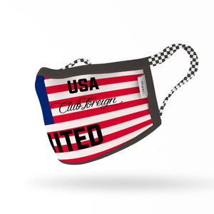 "ClubForeign Premium Reusable Fabric Face Masks ""USA"""