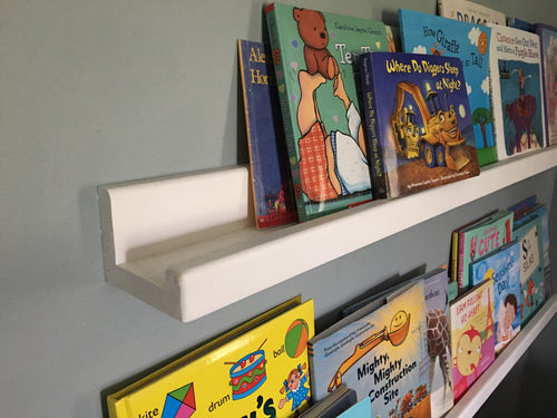 Narrow Shelves for Books and Pictures