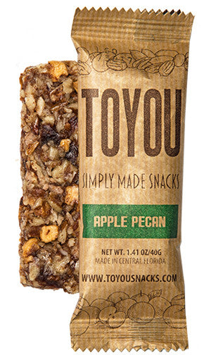 ToYou Snacks | Apple Pecan | simply made healthy fruit and nut snack bars