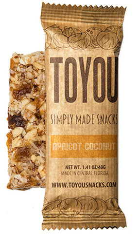 ToYou | Apricot Coconut | simply made healthy fruit and nut snack bars