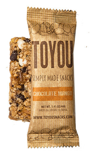ToYou | Chocolate Mango | simply made healthy fruit and nut snack bars