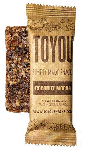 ToYou Snacks | Coconut Mocha | simply made healthy fruit and nut snack bars