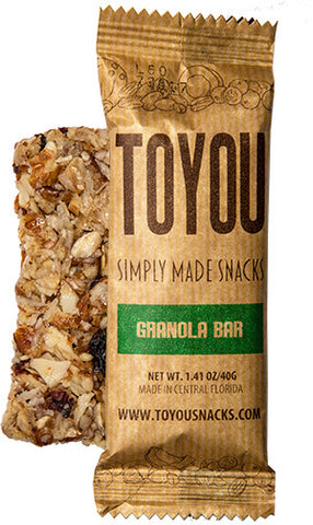 ToYou Snacks | Granola Bar | simply made healthy fruit and nut snack bars