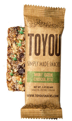 ToYou Snacks | Mint Chocolate | simply made healthy fruit and nut snack bars