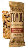 ToYou Snacks | Peanut Butter Cranberry | simply made healthy fruit and nut snack bars
